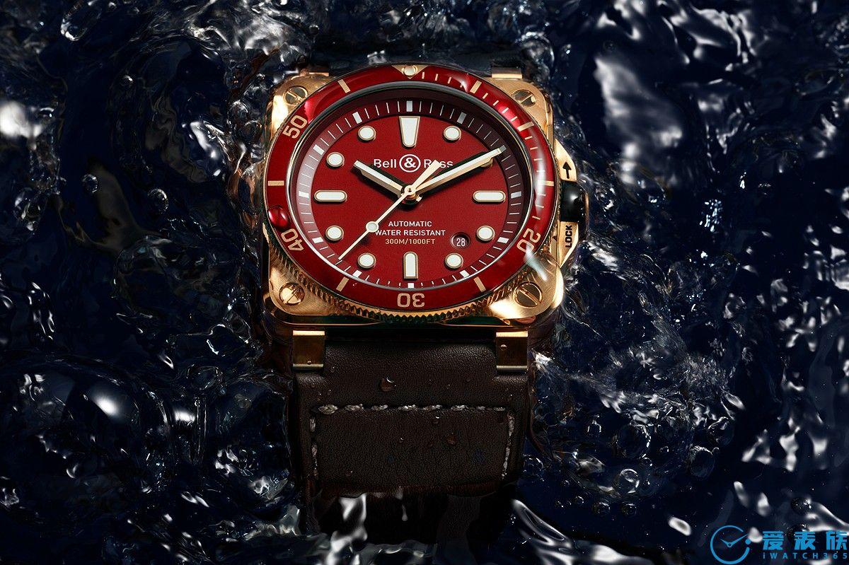 亮骚红色铜表Bell&Ross BR 03-92 Diver Red Bronze