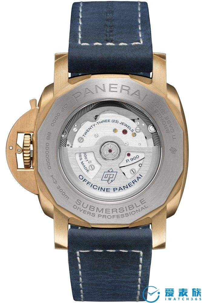 沛纳海SUBMERSIBLE BRONZO BLU ABISSO潜行系列青铜腕表