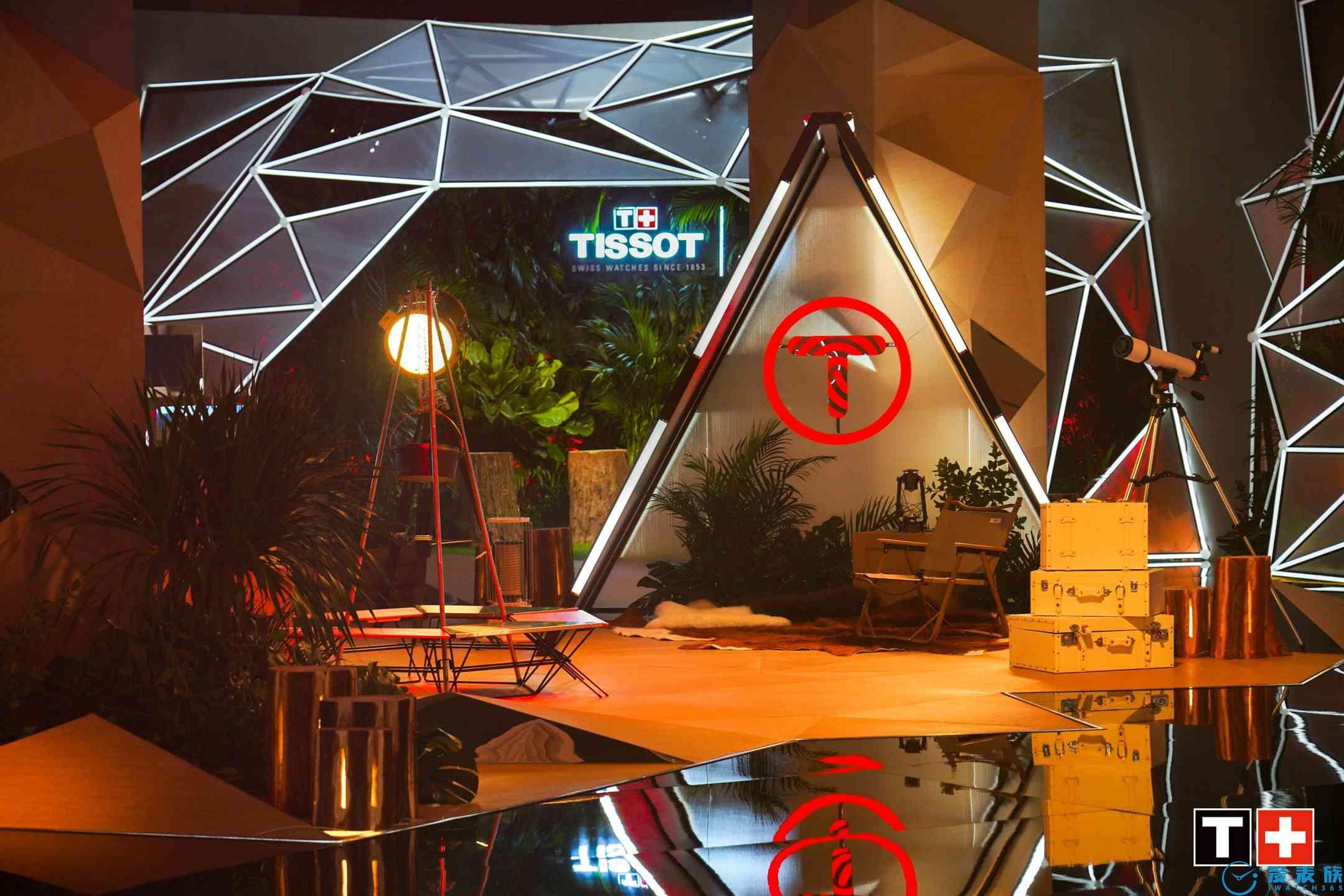 图3:赛博森林风格TISSOT天梭腾智·无界系列新品发布盛典现场