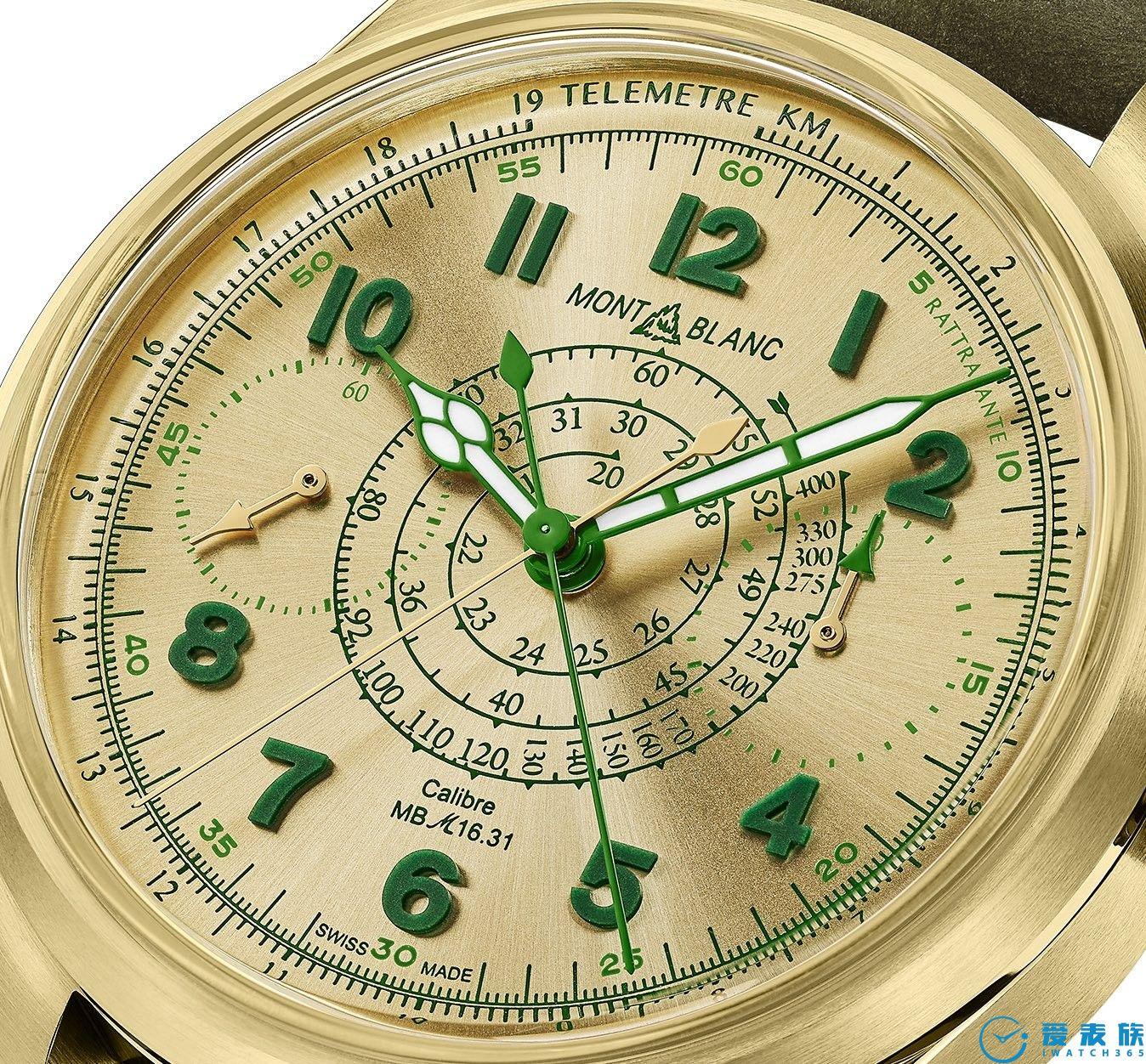 时髦的绿金合金---1858追针计时码表限量款