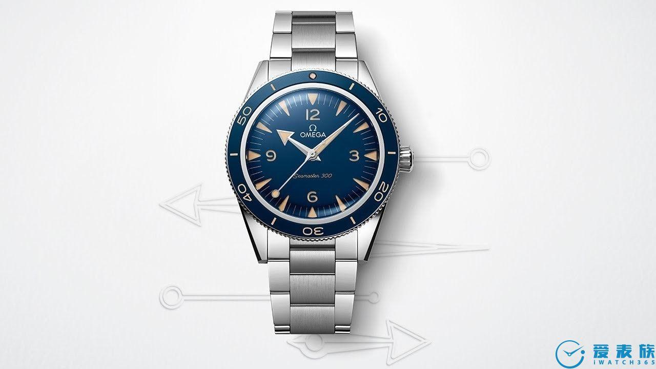 更加复古的新一代欧米茄海马300蓝面钢款