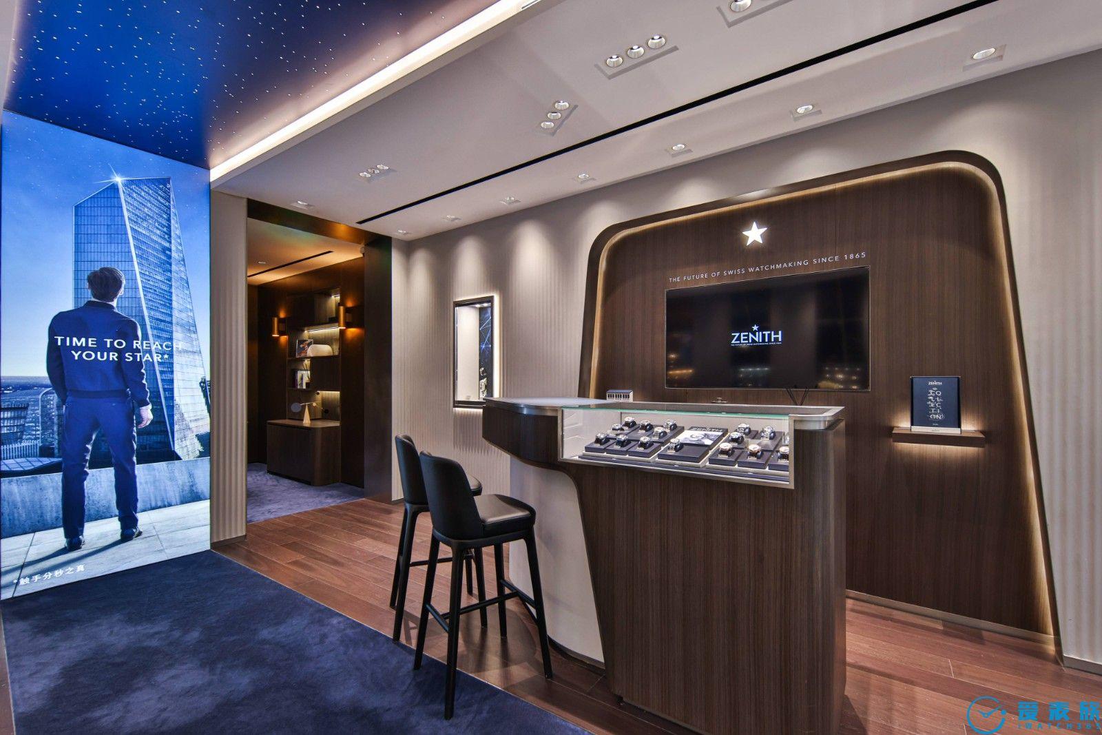 ZENITH真力時全新上海旗艦店和巴黎樂蓬馬歇精品店重裝開業