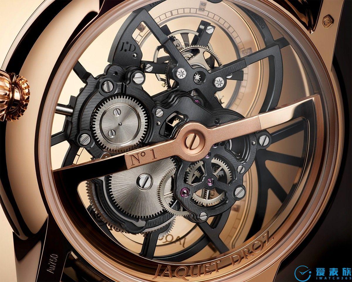 """时间的""""光影建筑师"""" 雅克德罗推出全新大秒针镂空陀飞轮ONE腕表"""