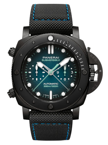 沛纳海Panerai潜行系列Submersible Chrono专?#30331;彼?#35745;时 Guillaume Nery特别版47mm腕表 PAM00983